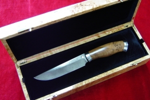 Bulat knife in a Karelian birch casket